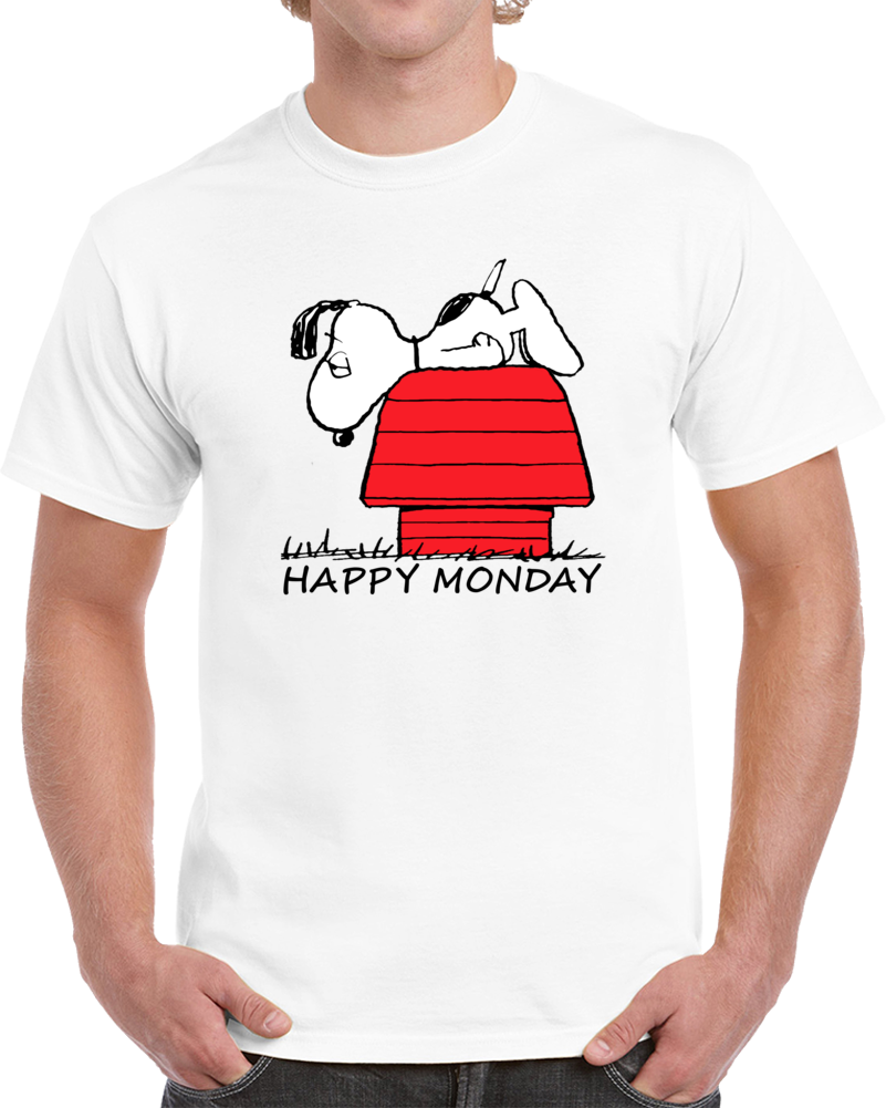 Happy Monday Snoopy Peanuts T Shirt