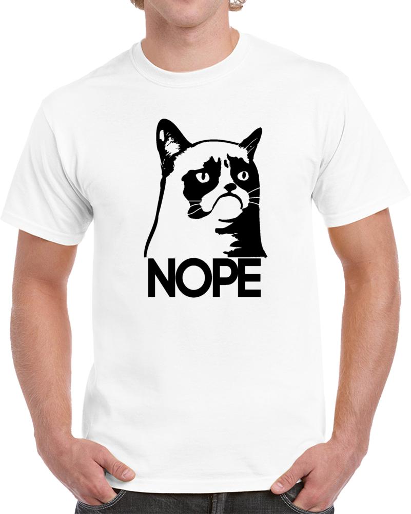 Grumpy Cat Nope Meme T Shirt