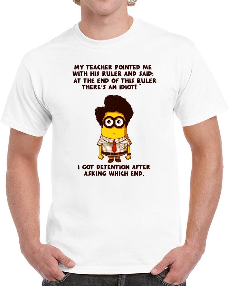 Funny Teacher Student Minion T Shirt