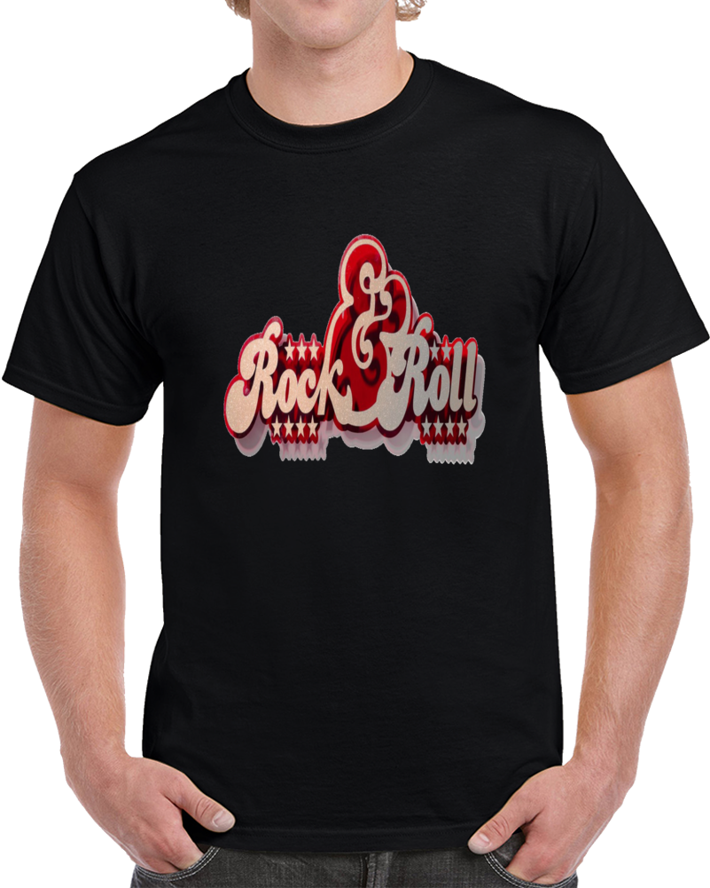 Curly Mark Red Rock And Roll T Shirt