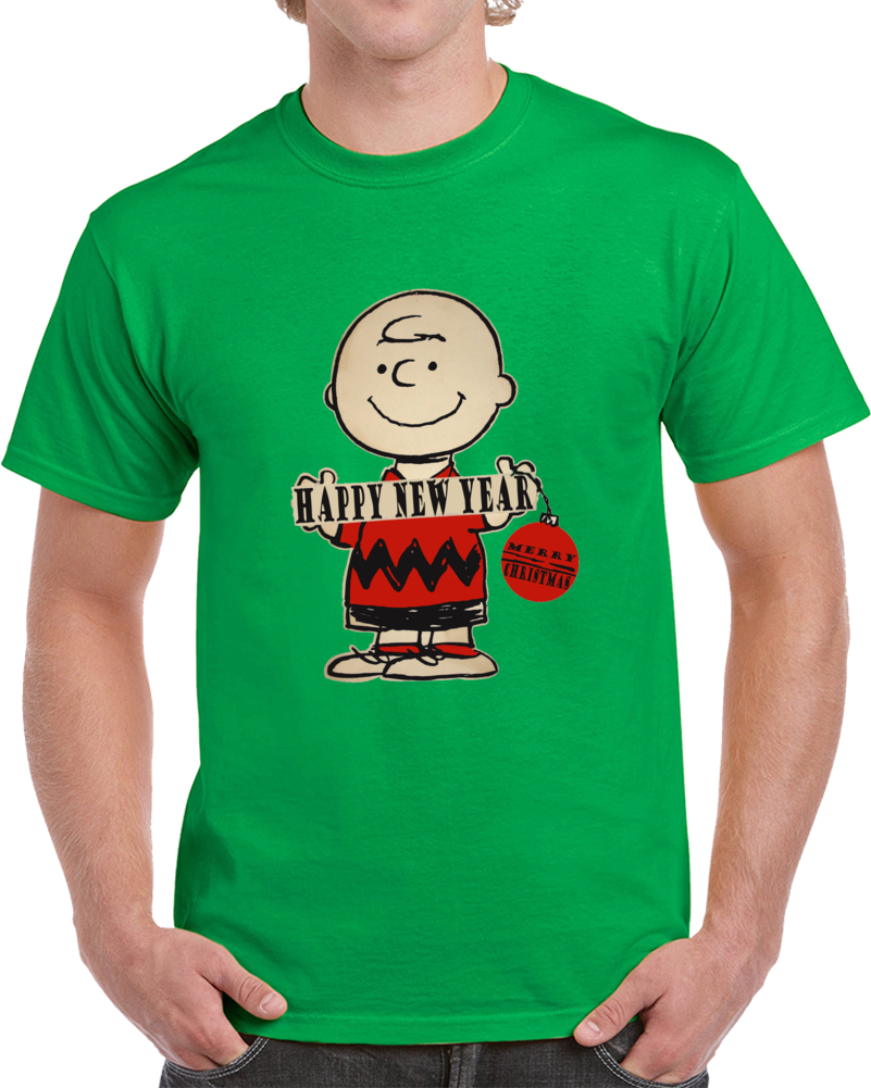 Charlie Brown Peanuts Happy New Year And Merry Christmas T Shirt