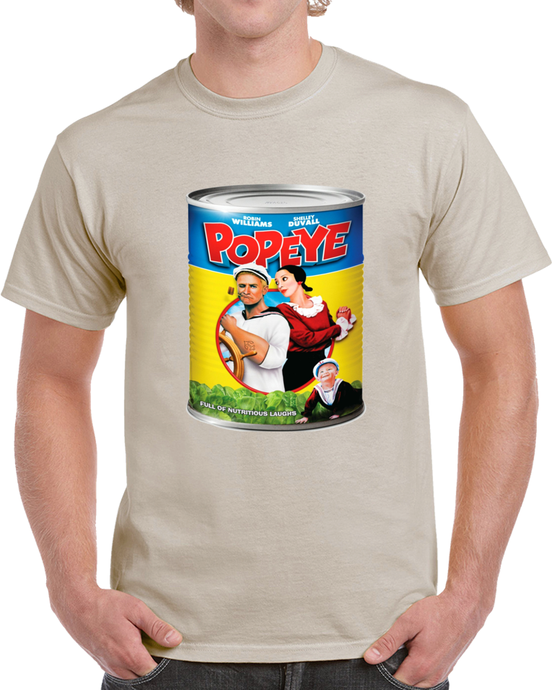 Popeye Tin Can Classic Movie Poster T Shirt