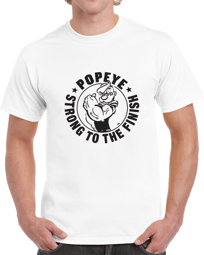 Popeye Strong To The Finish Logo T Shirt