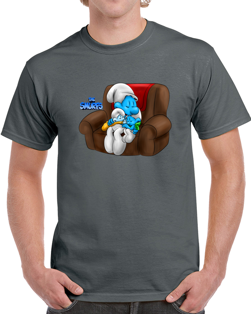 Lazy Smurf Taking A Nap T Shirt