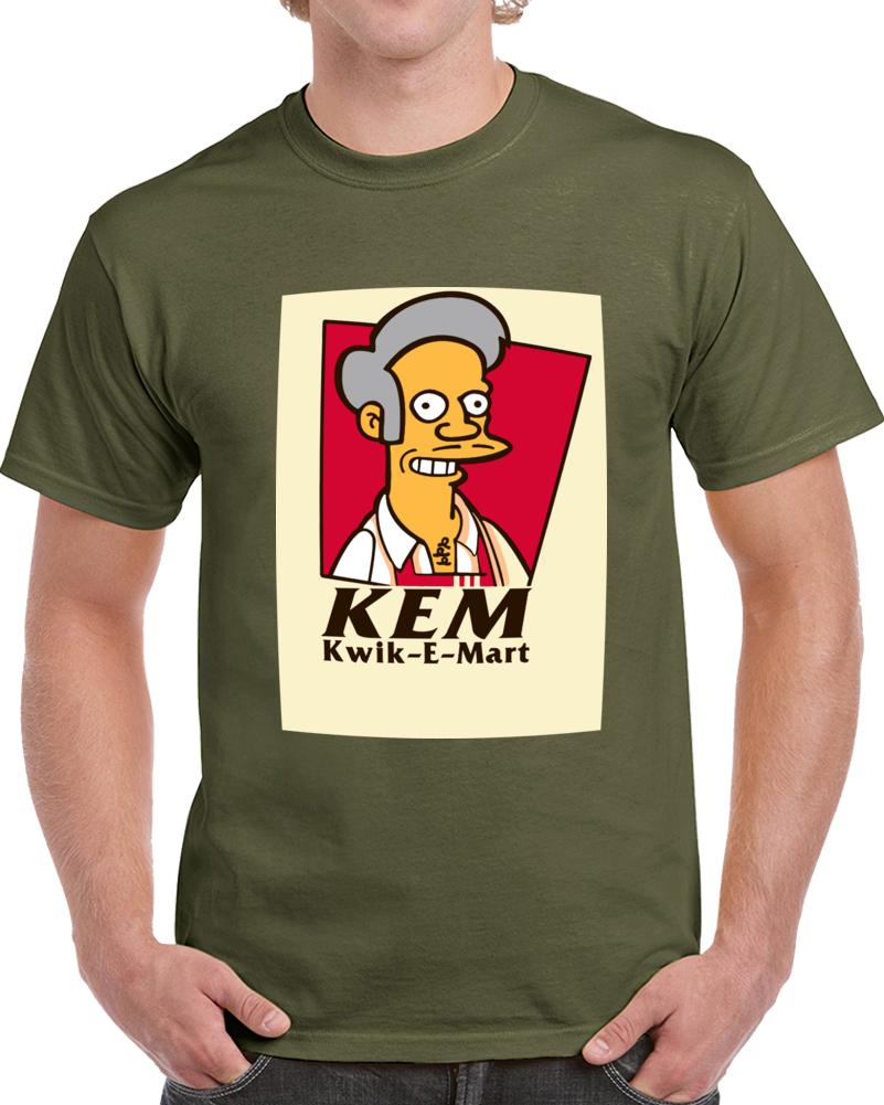 Apu Kwik E Mart Simpsons Kfc Logo T Shirt
