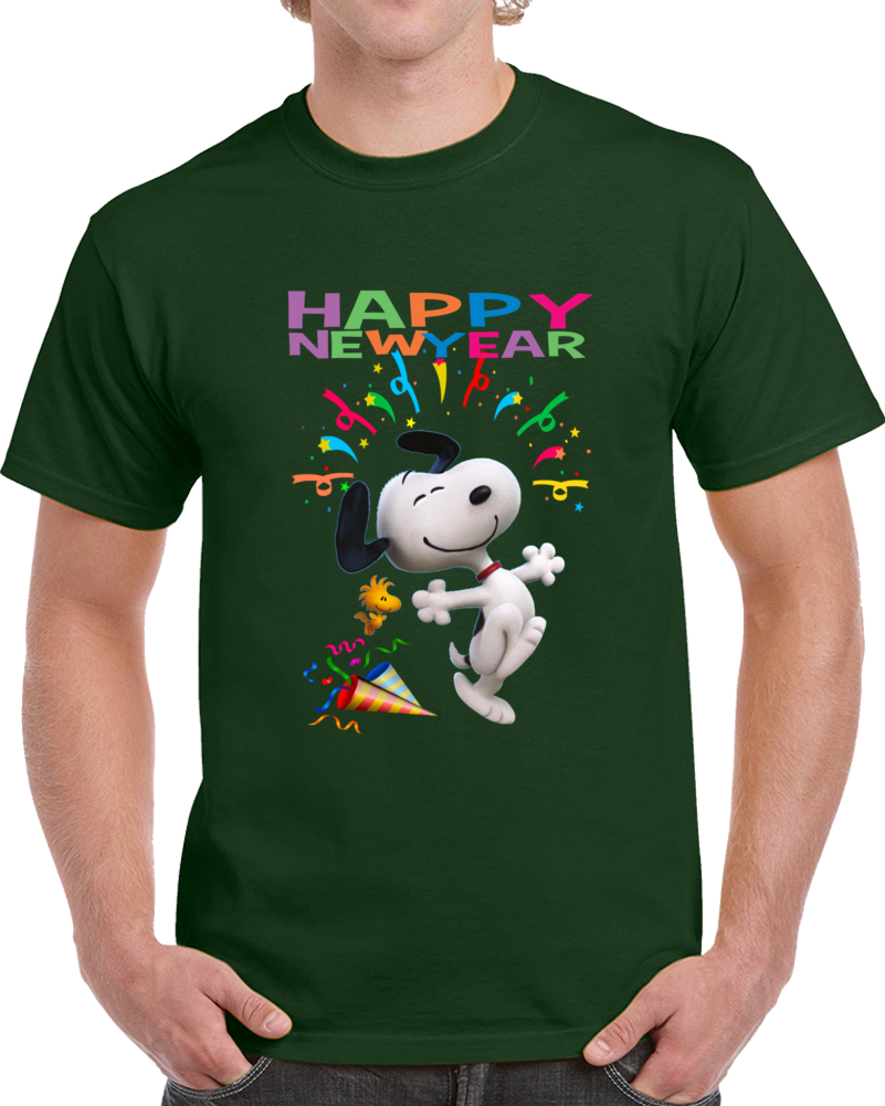 Snoopy Happy New Year T Shirt