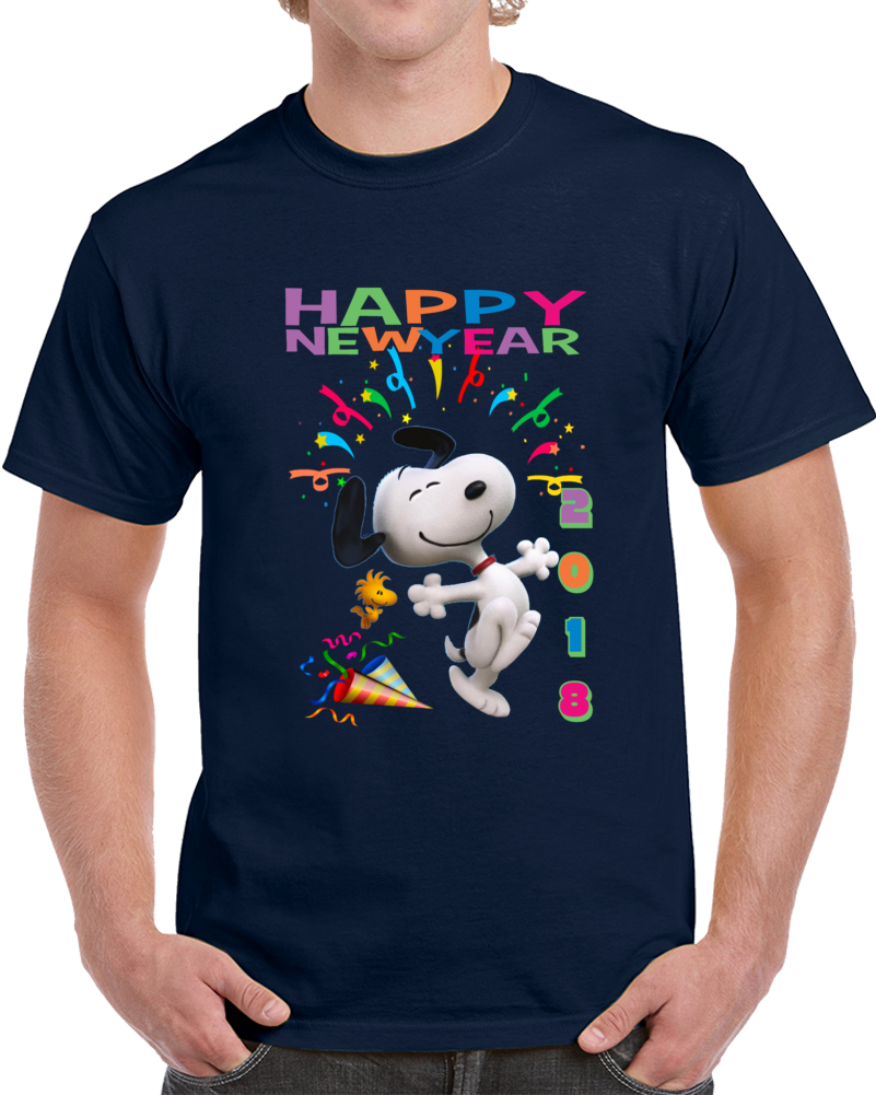 Snoopy Happy New Year 2018 T Shirt