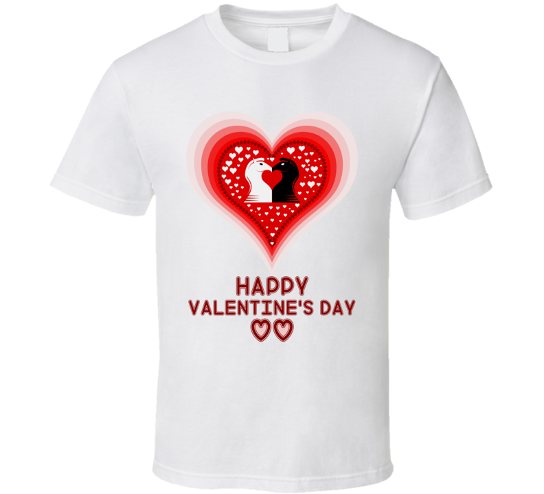 Happy Valentines Day Heart Kiss T Shirt