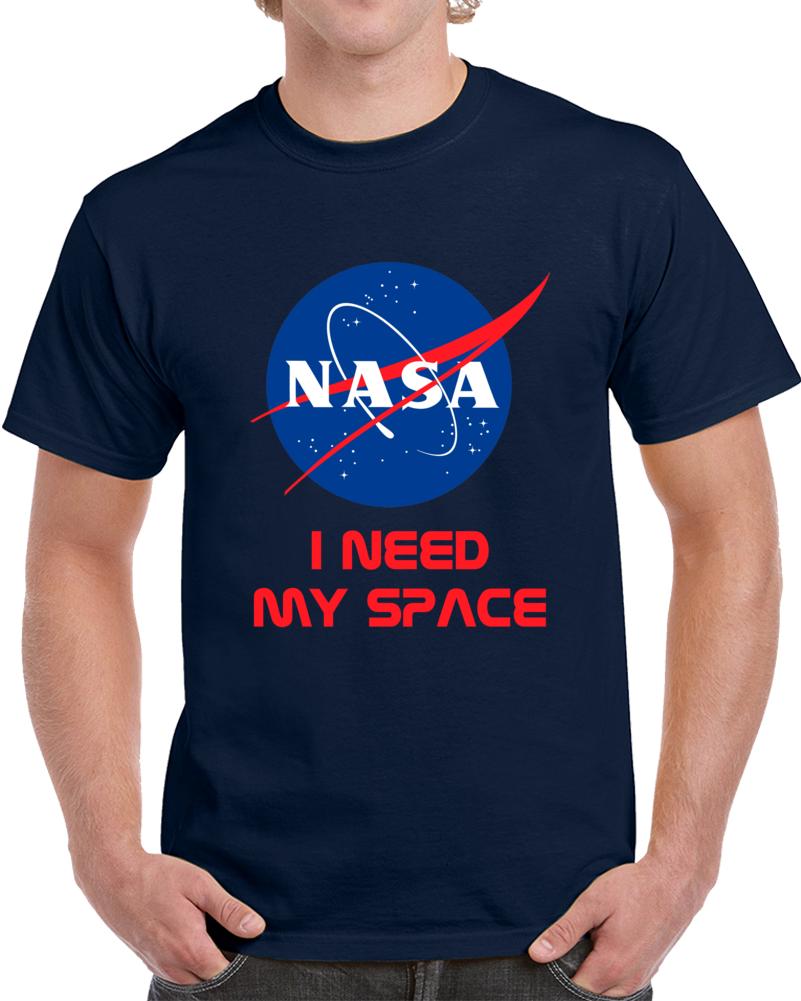 Nasa I Need My Space Logo T Shirt