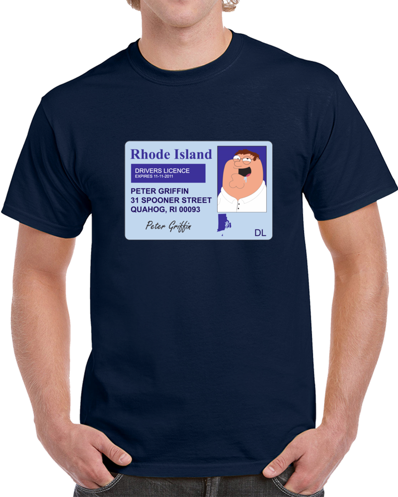 Peter Griffin Drivers Licence T Shirt