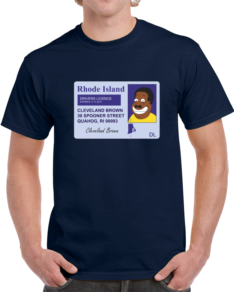 Cleveland Brown Drivers Licence T Shirt