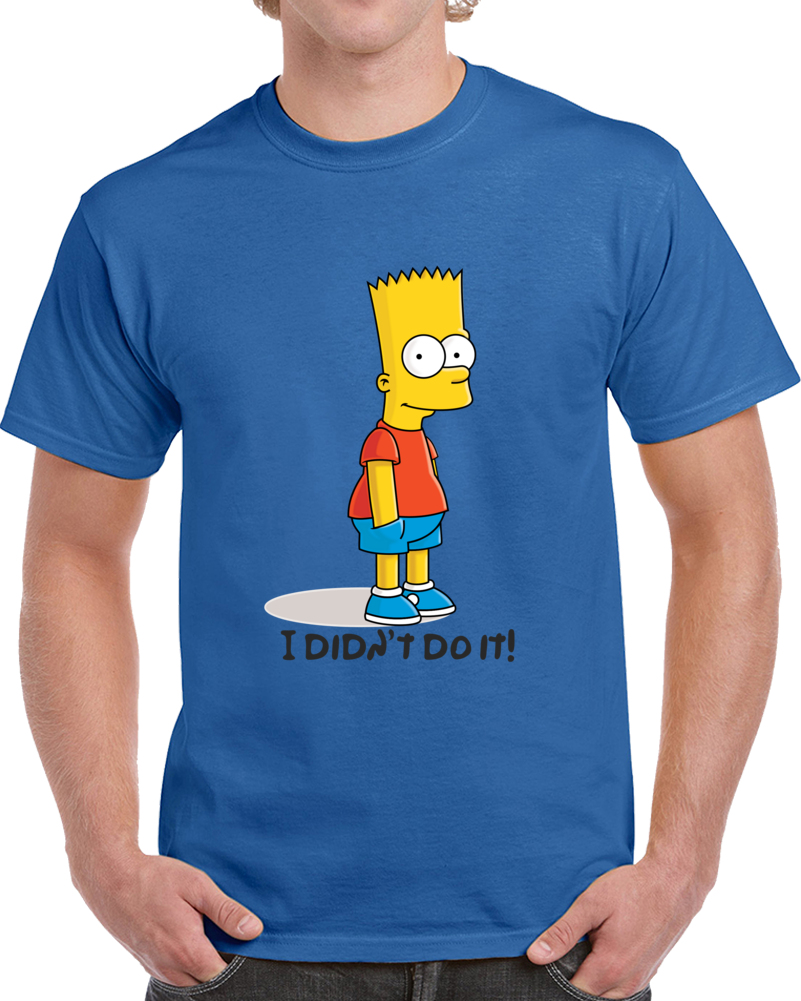 Bart Simpson I Didn't Do It T Shirt