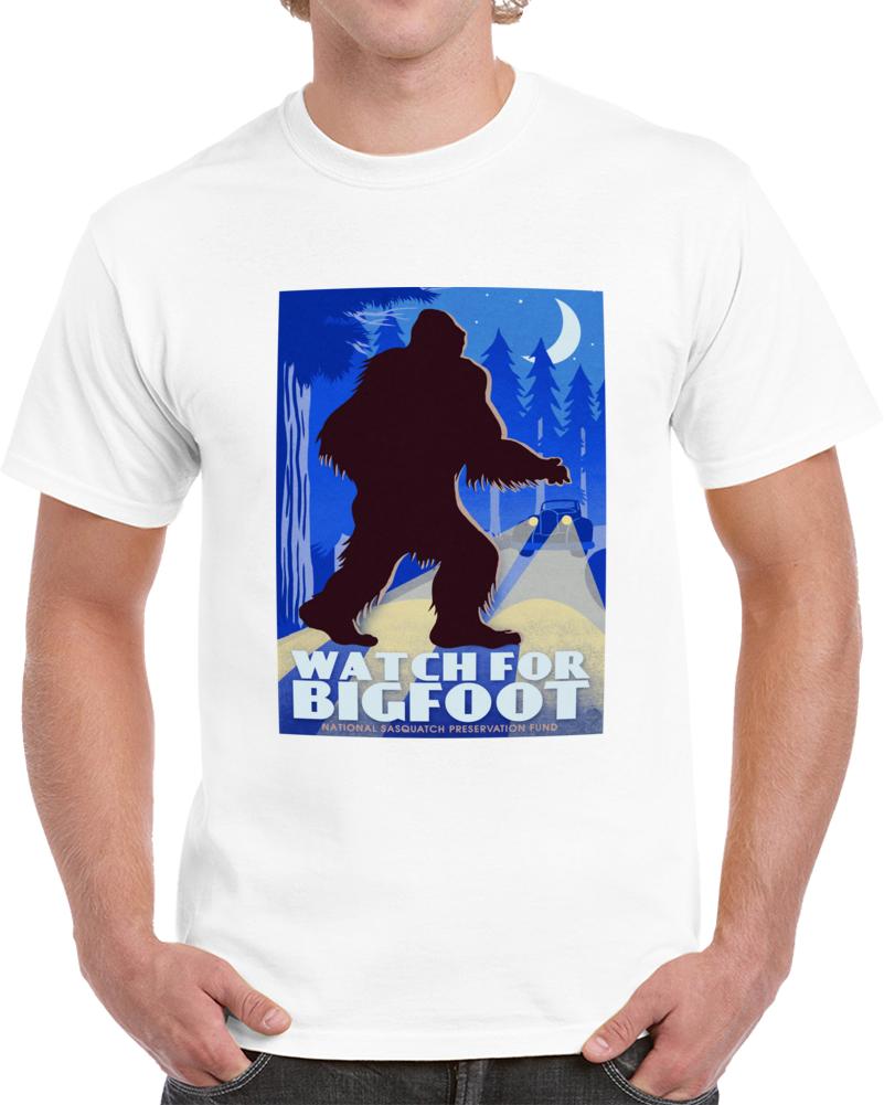 Watch For Bigfoot Mix T Shirt
