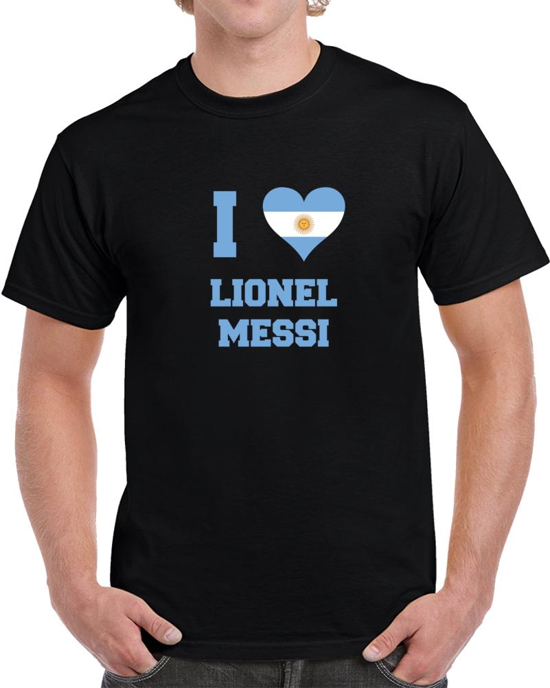 Messi I Love Argentina Mix T Shirt