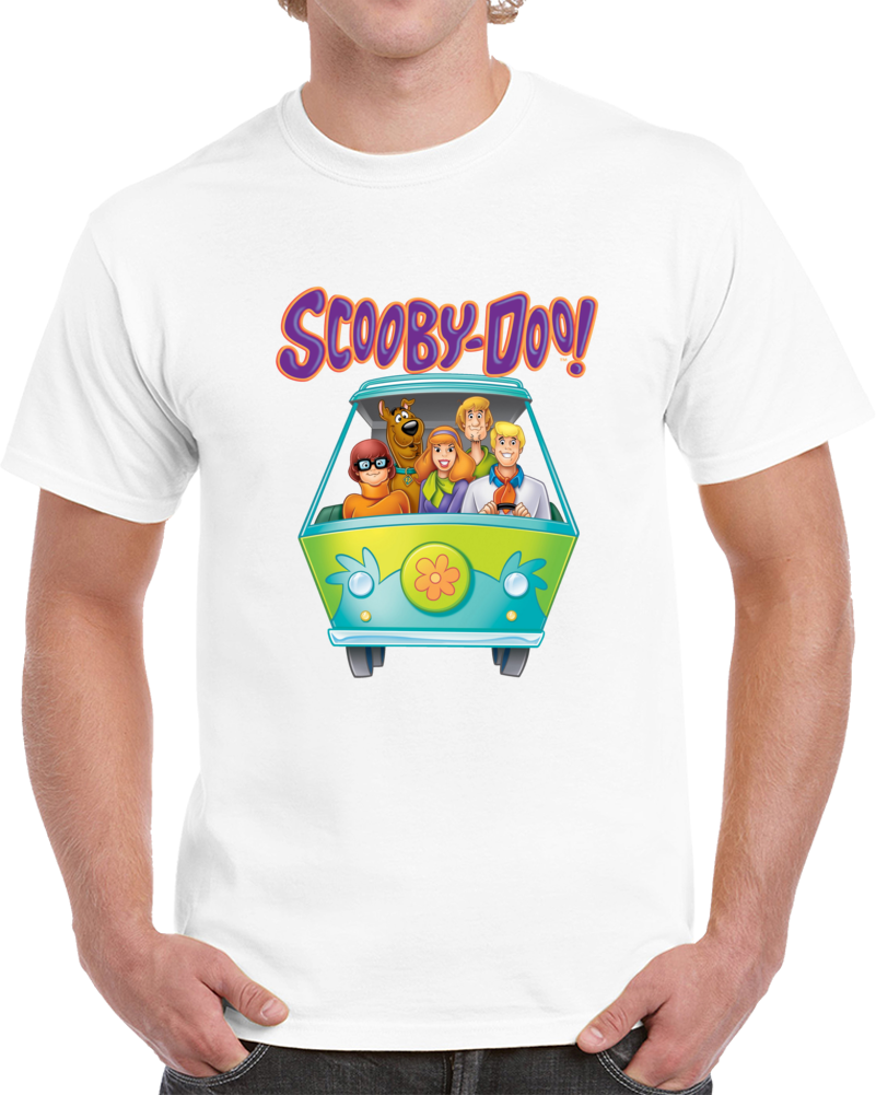 Scooby Doo Gang In Their Van T Shirt