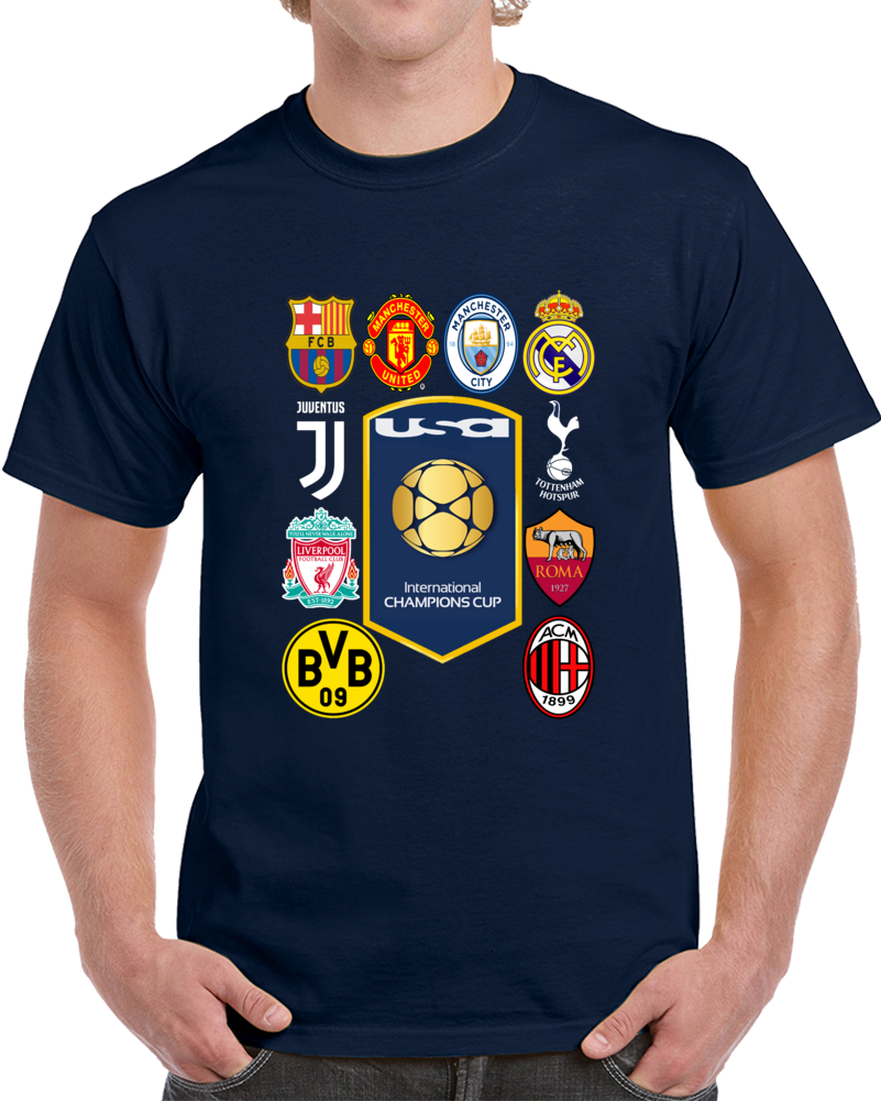 Intermational Champions Cup 2018  Usa T Shirt