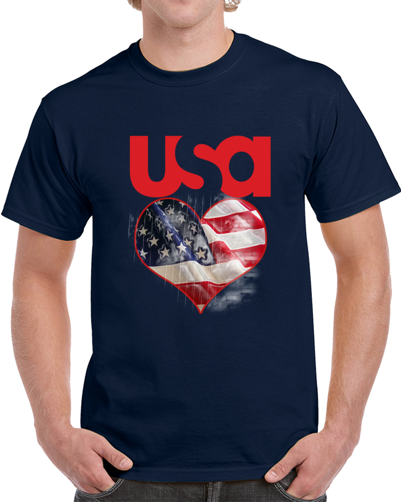 Usa Patriotism Heart Flag T Shirt