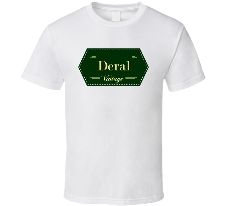 Deral Vintage Label Name T Shirt