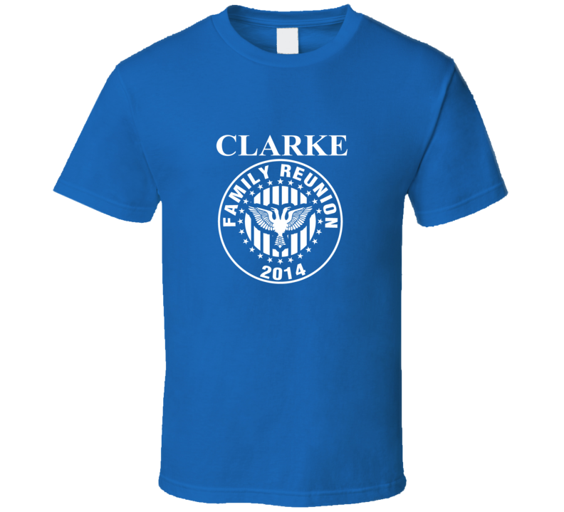 Clarke Family Reunion Fishing Trip Last Name Surname T shirt