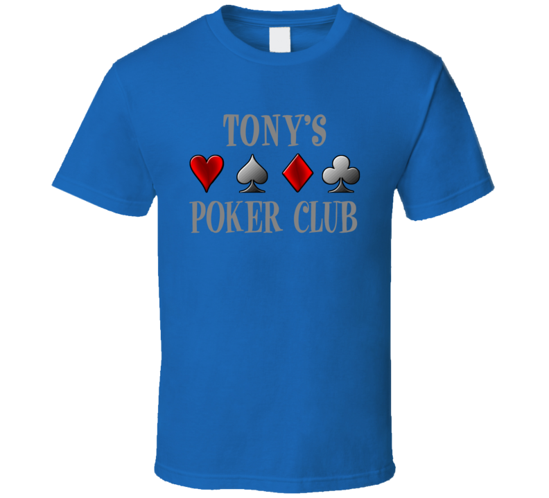 Tony Hold Em Poker Cards Stag T Shirt