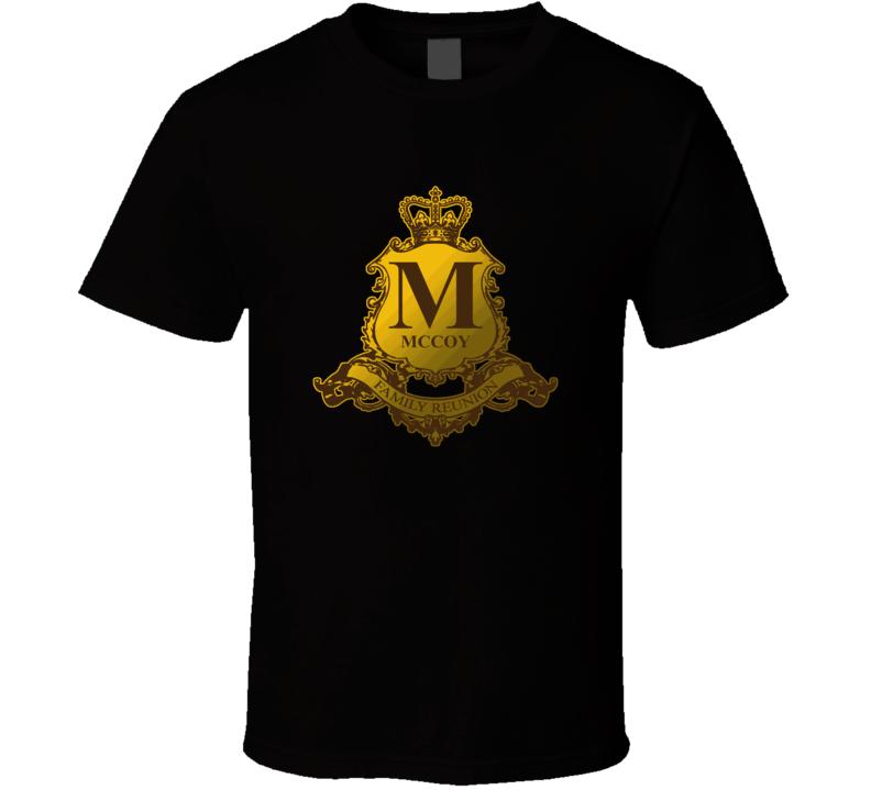 Mccoy Family Reunion Crest Last Name Surname T shirt