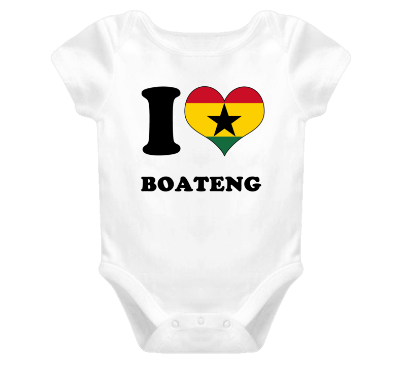 Kevin-Prince Boateng Ghana Fw I Love Baby One Piece Bodysuit Football Soccer World Cup T Shirt