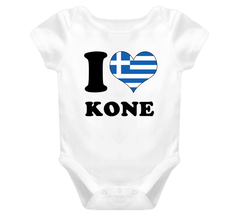 544d50426 Panagiotis Kone Greece Mf I Love Baby One Piece Bodysuit Football Soccer  World Cup T Shirt