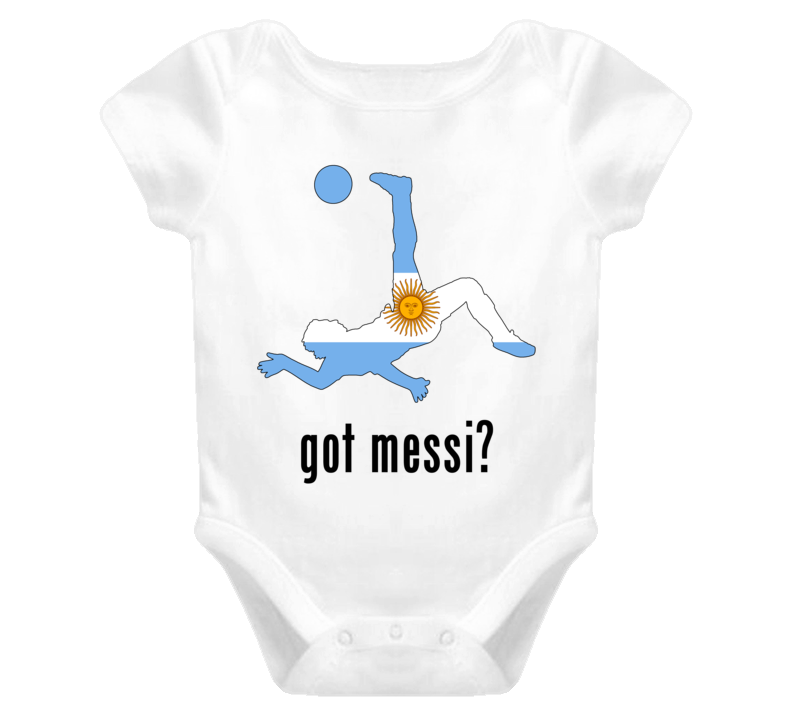 Lionel Messi Argentina Fw Got Baby One Piece Soccer World Cup T Shirt