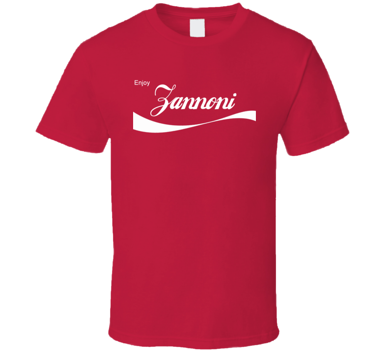 Zannoni Enjoy Cola Parody Custom Name T Shirt