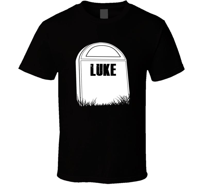 Creepy Luke Tombstone Name T Shirt