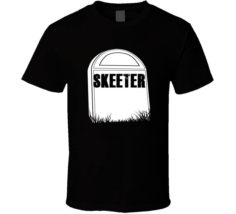 Creepy Skeeter Tombstone Name T Shirt