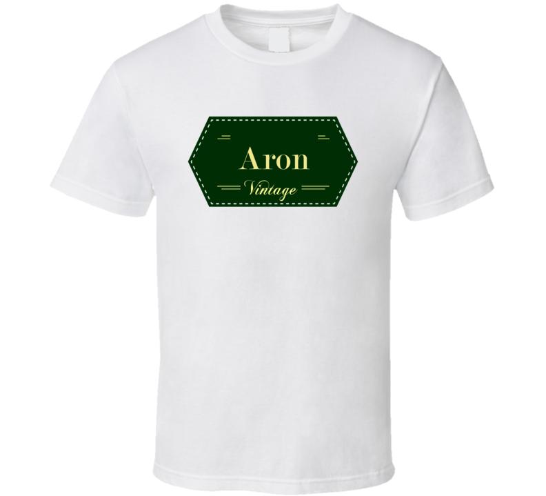 Aron Vintage Label Name T Shirt