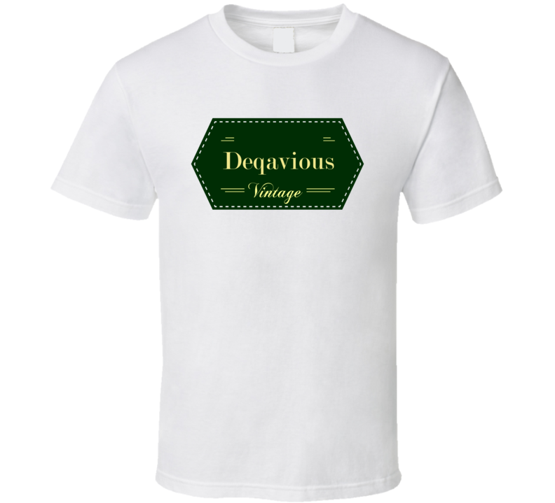 Deqavious Vintage Label Name T Shirt