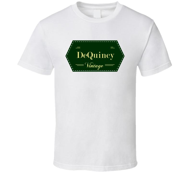 DeQuincy Vintage Label Name T Shirt