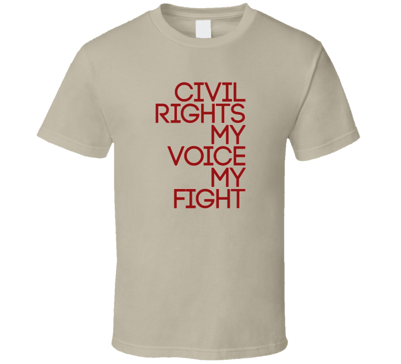 Civil rights shirt Red and Tan