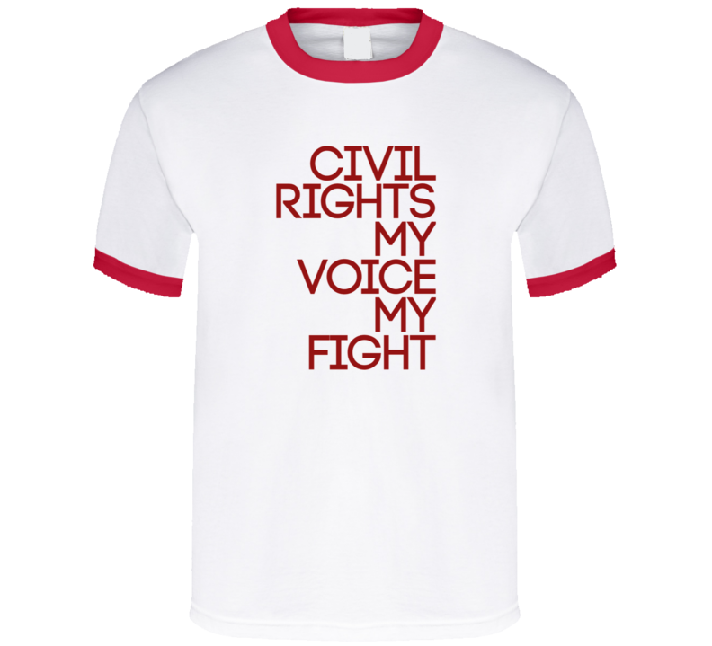Civil rights shirt White and red