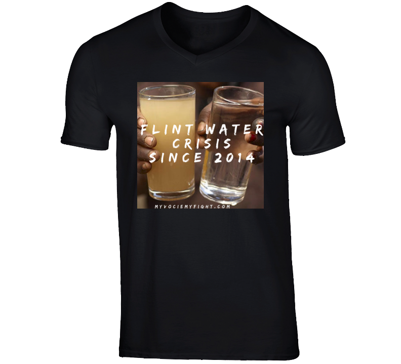 Flint water t shirt -glass W