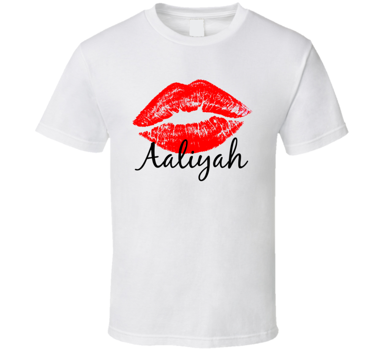 Aaliyah Personalized Name Lips Kiss Love Essential T Shirt