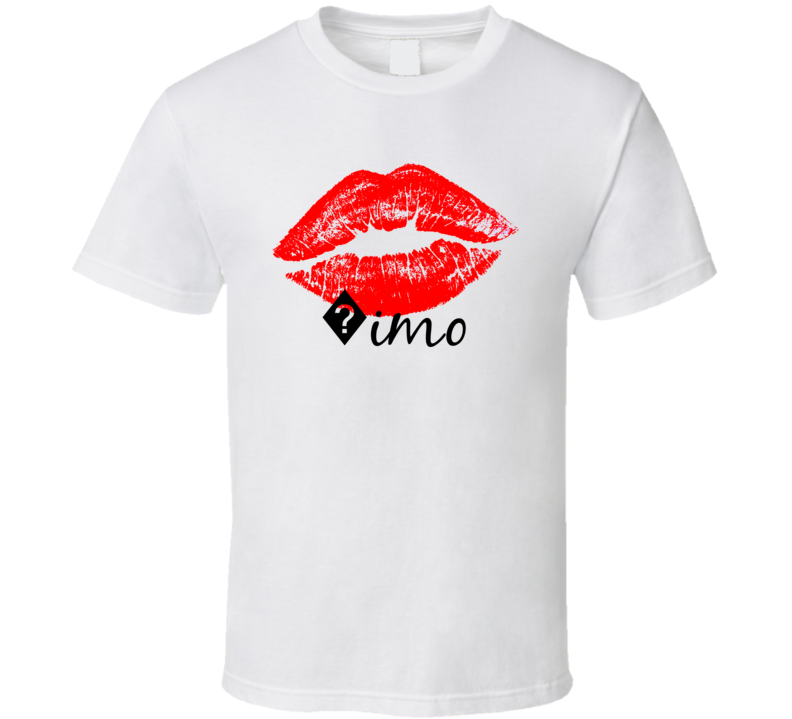 ?imo Personalized Name Lips Kiss Love Essential T Shirt