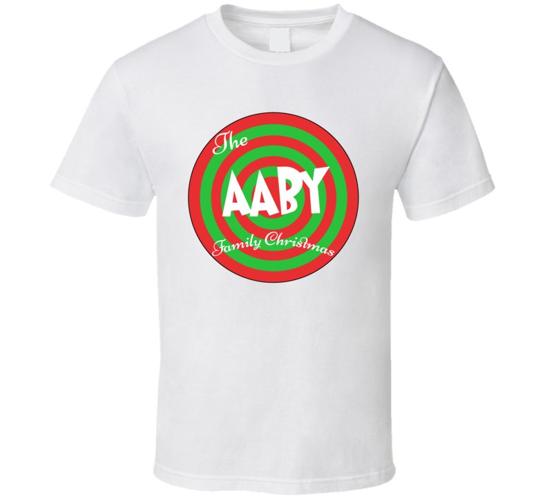 The Aaby Family Christmas Last Name T Shirt