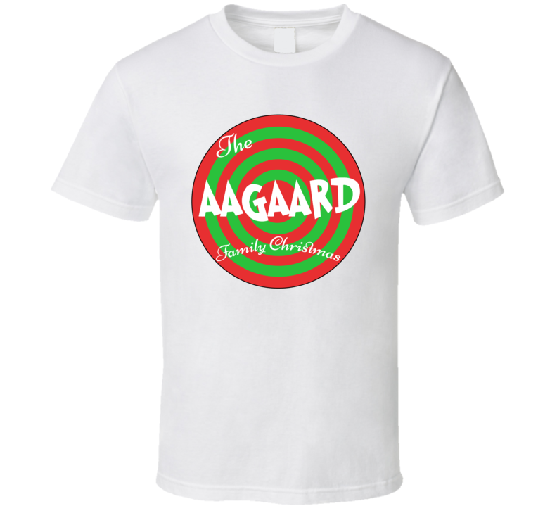 The Aagaard Family Christmas Last Name T Shirt
