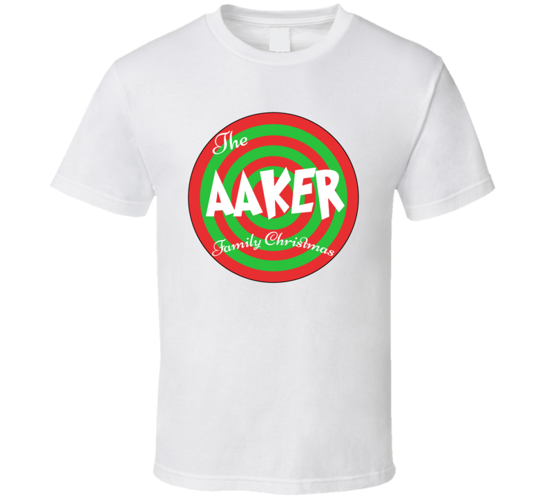 The Aaker Family Christmas Last Name T Shirt