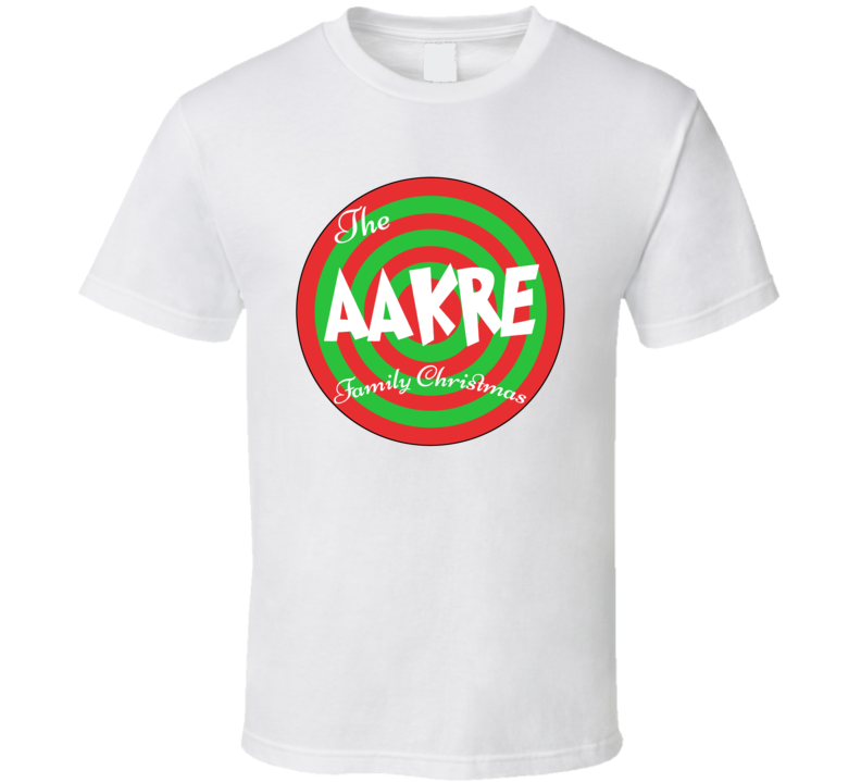 The Aakre Family Christmas Last Name T Shirt