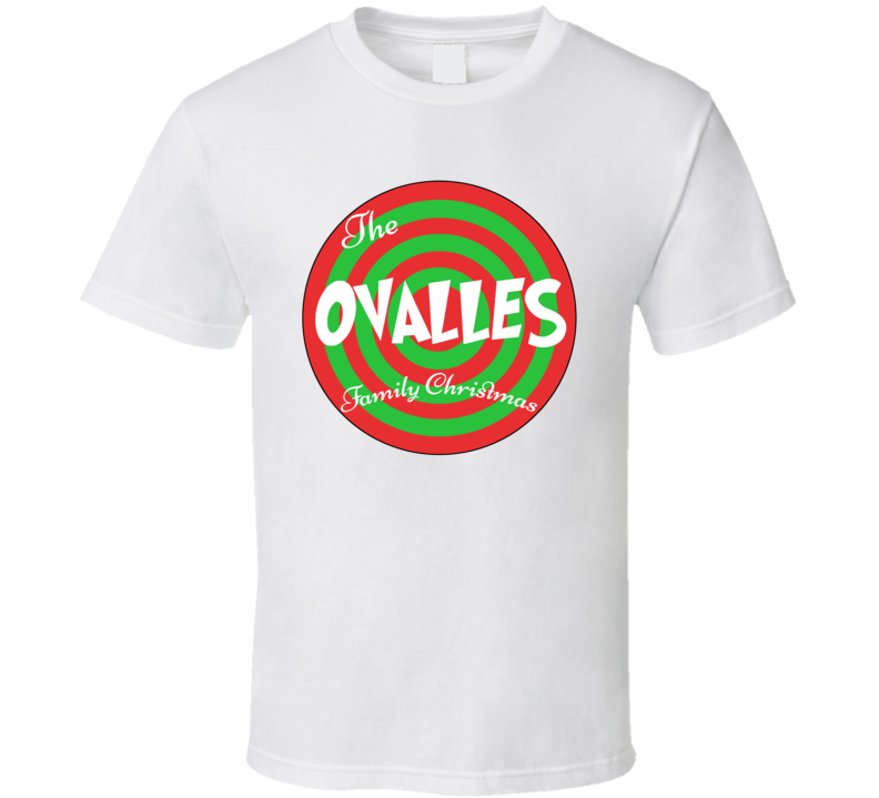 The Ovalles Family Christmas Last Name T Shirt