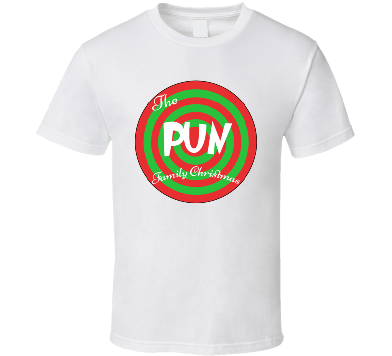 The Pun Family Christmas Last Name T Shirt
