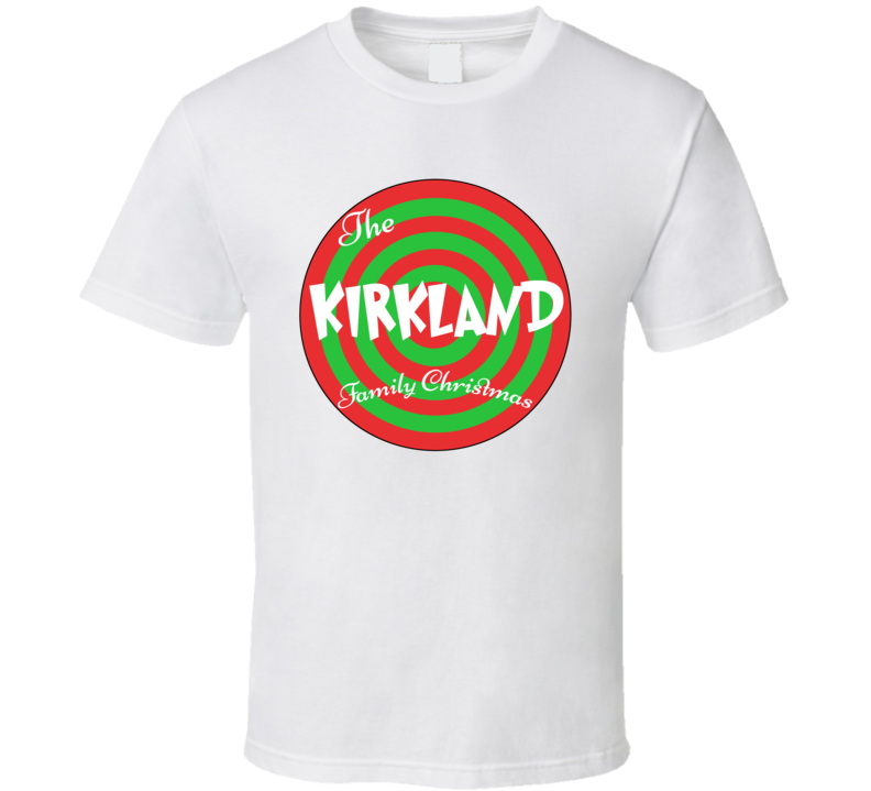 The Kirkland Family Christmas Last Name T Shirt