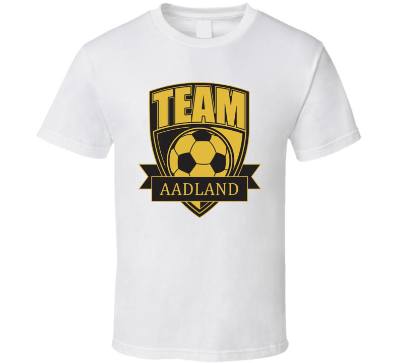 Team Aadland Last Name Soccer T Shirt