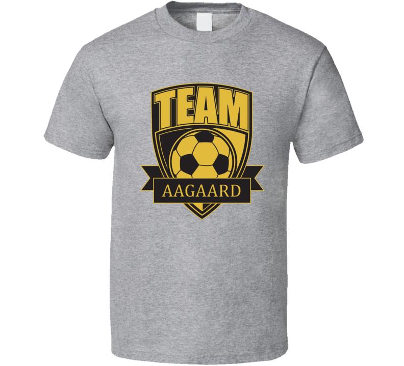 Team Aagaard Last Name Soccer T Shirt