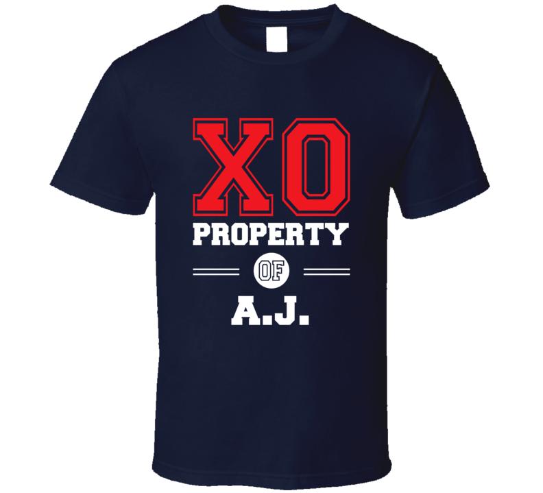 Property Of AJ Custom Love First Name T Shirt