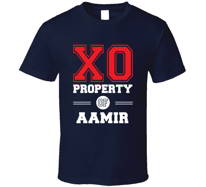 Property Of Aamir Custom Love First Name T Shirt